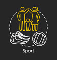 sport chalk concept icon family time together vector image vector image