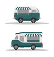 street food truck concept street food vehicles vector image