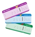 Three Classes of Blank Flight Boarding Pass vector image