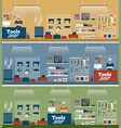 tools shop banner with instruments vector image