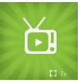 Tv icon in minimal style vector image