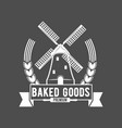 vintage retro bakery logo badge and label vector image vector image