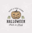 vintage style halloween logo or label template vector image vector image