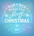 Wish you a Merry Christmas vector image vector image