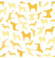 seamless pattern of color dogs vector image