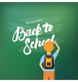 Back to School hand written lettering vector image
