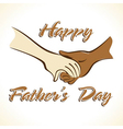 Father s Day Greeting vector image