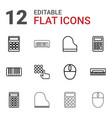 12 keyboard icons vector image vector image