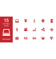 15 growing icons vector image vector image