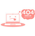 404 com think vector image vector image