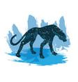 a night sky leopard print vector image vector image