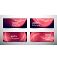 abstract line banner set vector image vector image