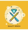 Abstract of quality design vector image vector image