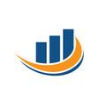 abstract swirl finance logo vector image vector image