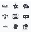Back to school icons Studies after the holidays vector image
