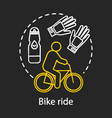 bike ride chalk concept icon family activities vector image