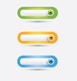 Button web vector image vector image