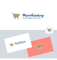 cart logotype with business card template elegant vector image vector image