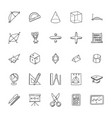 collection of mathematics doodles vector image vector image