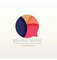 creative chat logo symbol concept design vector image