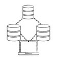 database data center icon image vector image vector image