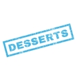 Desserts Rubber Stamp vector image vector image