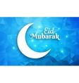 eid mubarak greeting card crescent moon vector image