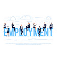 employment business concept vector image vector image