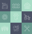 Farming Line Collection vector image vector image