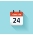 february 24 flat daily calendar icon date vector image vector image