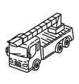 fire engine icon doodle hand drawn or outline vector image