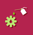 flat icon design collection gear and oil in vector image vector image