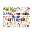 floral color lettering card