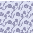 Floral seamless texture with tulips vector image vector image