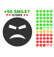 furious smiley icon with bonus mood clipart vector image vector image