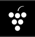 grape white color icon vector image vector image