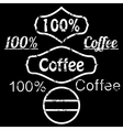 grunge logo coffee vector image