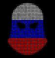 halftone russian terrorist balaklava icon vector image