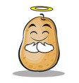 innocent potato character cartoon style vector image vector image