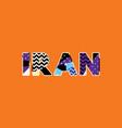 iran concept word art vector image