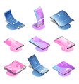 isometric foldable gadgets collection vector image vector image