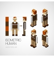 isometric human set vector image