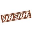 karlsruhe brown square stamp vector image vector image