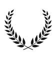 laurel wreath isolated vector image vector image