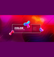 liquid color background design fluid shapes vector image