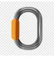 metal carabine icon cartoon style vector image vector image