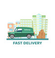 mobile delivery city transportation vector image