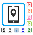 mobile gps framed icon vector image vector image
