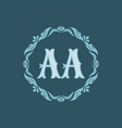 monogram aa letters - concept logo template design vector image vector image