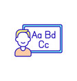 online educational course rgb color icon vector image